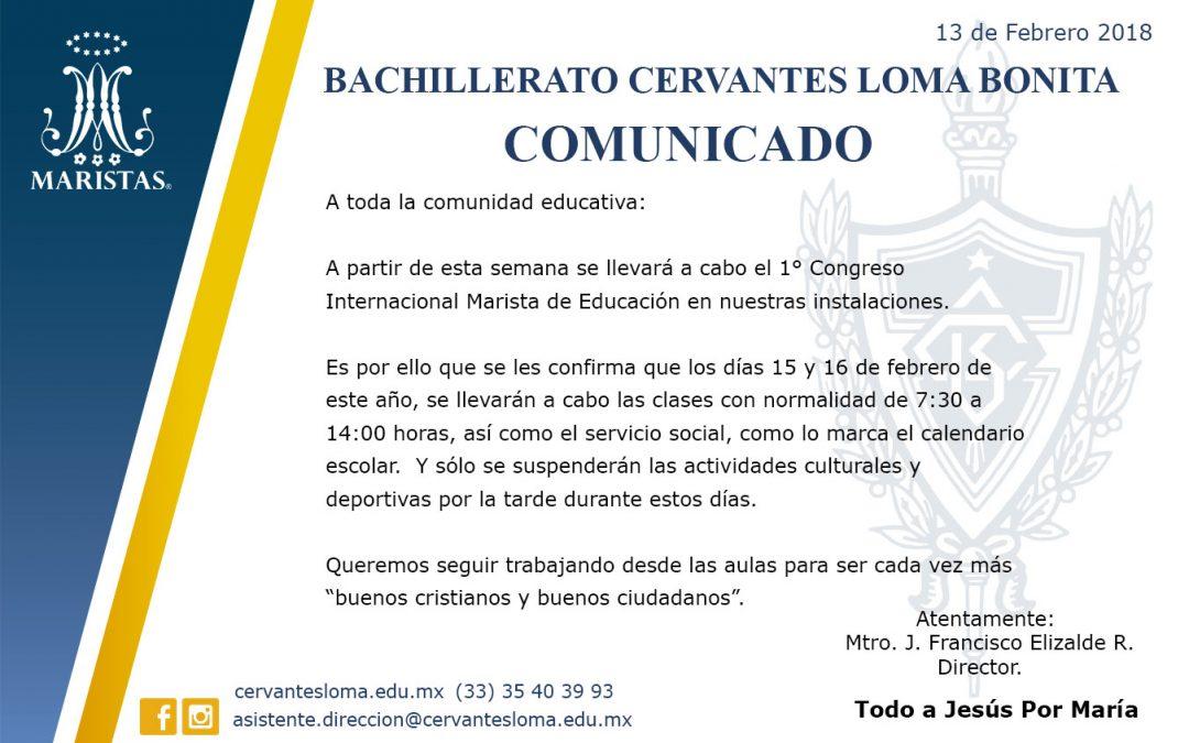 COMUNICADO DE CLASES 15 Y 16 DE FEBRERO