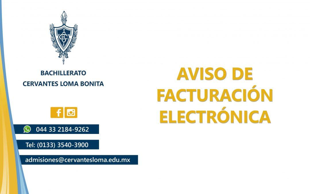 Aviso Facturación Electrónica
