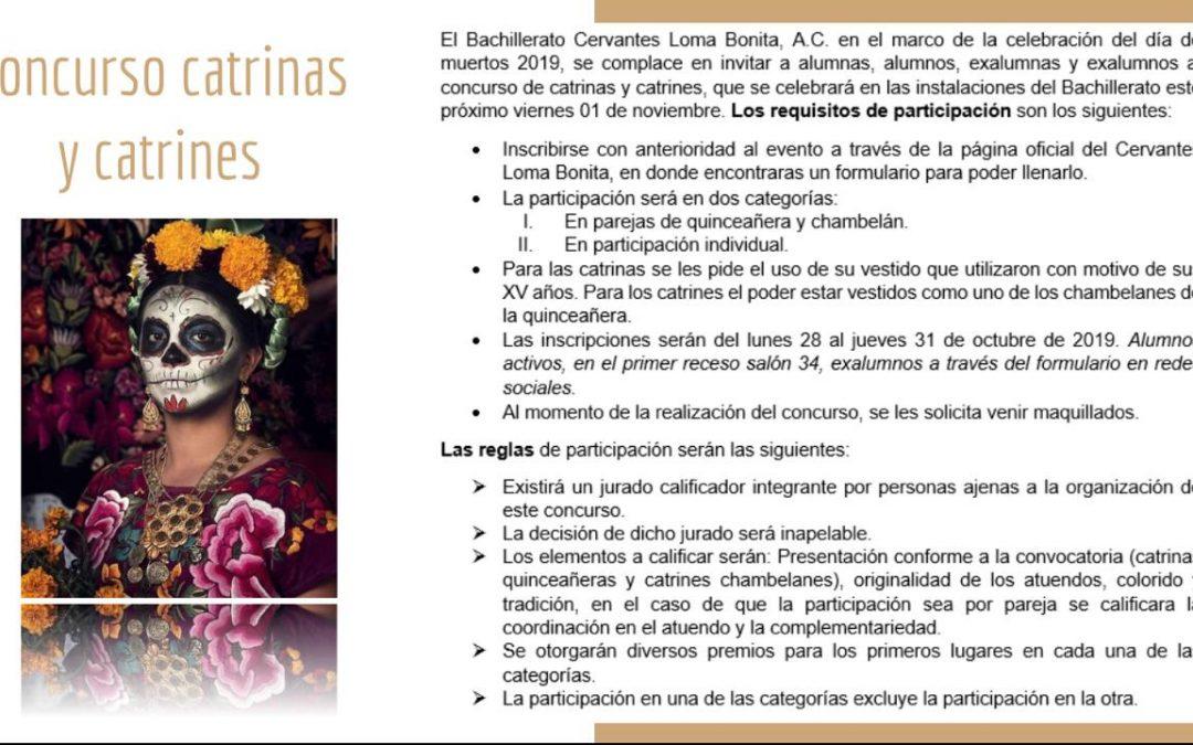 Concurso de Catrinas y Catrines – Día de Muertos 2019